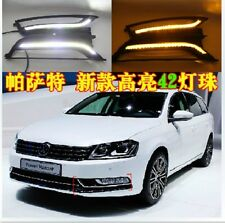 Daytime Running Lights DRL Turn Signal LED Fog Lamp Cover for VW Passat B7 2012+