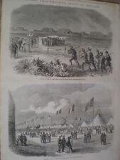 National Rifle Association meeting at Wimbledon 1861 old prints