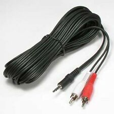 "25ft 3.5mm 1/8"" Stereo Mini Plug Male - 2 RCA Male Stereo Audio Cable 25 ft AV"