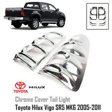 Chrome Cover Tail Light Lamp Trim Fit For Toyota Hilux SR5 MK6 Vigo 2005-2011