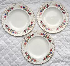 "3 Royal Crown Derby ""Chatworth"" Plates 8 1/2 inch A 798  (892)"