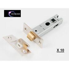 """10 x Eclipse 3 pollici 3 """" (75mm) TUBOLARE bolt-through SERRATURE placcati nichel-NUOVO"""