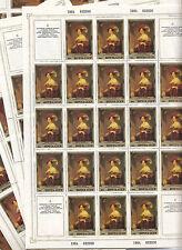 CCCP URSS 10 Feuilles Sheets 21TP 4k Portrait E.K. Worontzova by G. Hayter 1984