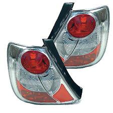 Tail Light Chrome/Clear Housing  Honda Civic 2002-2005 (Pair Set)