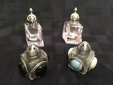 Salt and Pepper Shakers GLASS Diamond, PINK  Mikasa Vintage Japan