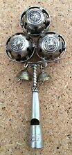 Rare Antique Victorian Sterling Silver Baby Rattle With Whistle Collector 1900's