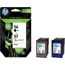 GENUINE ORIGINAL HP 56 BLACK + 57 COLOUR CARTRIDGES 2 YEAR GUARANTEE FASTPOSTAGE