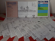 IMPERIAL JAPANESE NAVY IJN SHIP PLANS Yamato Fuso Ise 27 Ships! MARU Boxed Set