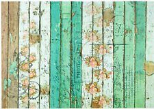 Papel De Arroz Para Decoupage Decopatch Scrapbook Craft Hoja Shabby Verde valla