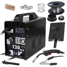 MIG130 Welder Gas Less Automatic Feed Flux Core Wire Welding Machine w/Free Mask