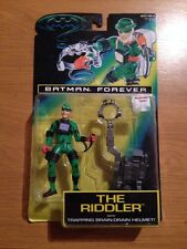 1995 Batman Forever The Riddler With Trapping Brain Drain Helmet!!  MOC