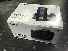 Canon EOS 80D 24.2MP Digital SLR Camera - Black (Kit w/ EF-S 18-55mm Lens) UK