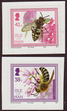 ISLE OF MAN 2012 BEES SET OF 2 SELF ADHESIVE UNMOUNTED MINT