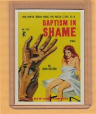 Baptism In Shame by John Dexter promo card book mark GGA pulp fiction sleaze