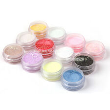 12 Colors Nail Art Acrylic Caving Powder Bulider Cave Sculpture For UV Gel Tips