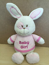 Ladybird BABY GIRL  WHITE & PINK  Bunny Rabbit  Baby Comforter Soft Toy 39cm