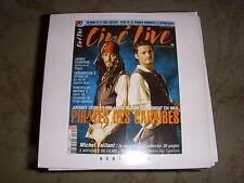 CD PROMO BANDES ANNONCES FILM CINE LIVE 70 07.2003 PIRATES des CARAIBES DEPP