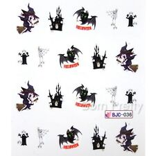 Nagel Sticker Nail Art Tattoo Halloween Thema BJC036
