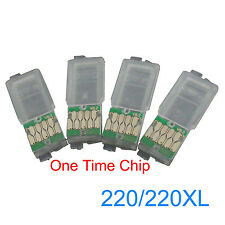 ONE TIME Chips for Epson XP220 XP320 XP324 XP420 Refillable Ink Cartridges 220