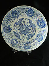 Antique 19th century Chinese pottery plate / bowl Diana cargo? pattern
