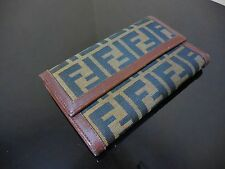 FENDI ZUCCA Long wallet beautiful Rare Cute very good condition!!!