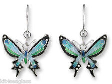 Zarah Blue Mariposa Butterfly EARRINGS Dangle Sterling Silver Boxed DISCONTINUED