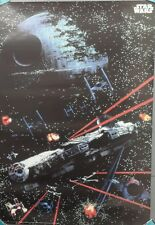"1997 Star Wars ""Space Battle"" Poster 25""x36""- Imported from Germany-UNUSED(FW),"