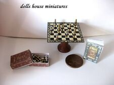 DELUX CHESS TABLE          DOLLS HOUSE MINIATURES