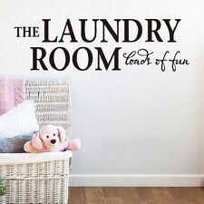 THE LAUNDRY ROOM LOADS OF FUN Vinyl wall lettering quotes home art decor decal