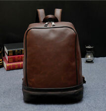 ZJ Mens Vintage Leather Bag backpack Laptop bag Briefcase Messenger bag Tote Bag