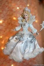 Christmas Ornaments Frosted Kingdom White Blue Fairy With Wand Kurt Adler