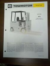 Caterpillar Lift Truck Brochure~M70 Electric Fork Lift~Specifications/Data Sheet