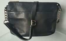 Danier Black  leather bag.  Shoulder, messenger bag