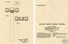 1945 BALL HAMMER US PATENT Art Print READY TO FRAME!!  Vintage Cline Ball Peen