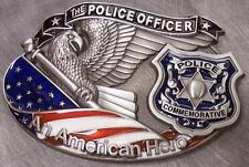 Pewter Belt Buckle American Police Officer NEW