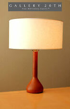 RARE! MID CENTURY DANISH MODERN TABLE DESK LAMP! Solid Teak Vtg 50s 60s Wood