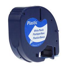WHITE Plastic LetraTag 91331 Label Tapes 91201 91221 Compatible Dymo LT-100 12mm
