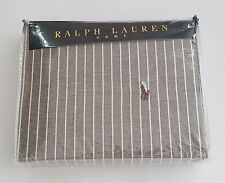 Polo Ralph Lauren Home Single Oxford Stripe Duvet Cover - Grey Rrp £155