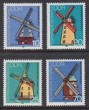 DDR East Germany 1981 ** mi.2657/60 monumentos   molinos de viento viento Mills