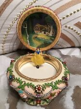 Disney Snow White and the Seven Dwarfs Music Box Princess Jewelry Box Circular