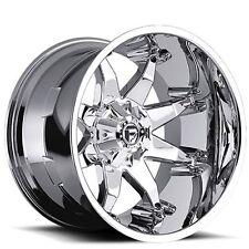 """Set4 20x9"""" Fuel Wheels D508 Octane Chrome Rims"""