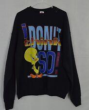 "Vtg Looney Tunes Tweety ""I Don't Think So"" Graphic Sweatshirt Women's Sz 18/20"