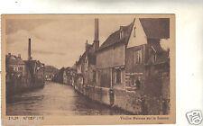 80 - cpa - ABBEVILLE - Vieilles maisons sur la Somme ( i 1649)