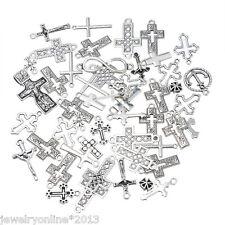 30 Mix Antiksilber Kreuz Charm Anhänger Kettenanhänger Pendant