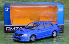SUBARU WRX STI 1:43 Car Metal Model Diecast Miniature Die Cast blue