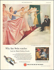 1952 Vintage ad for The Watchmakers of Switzerland`Swiss Watches  (073116)