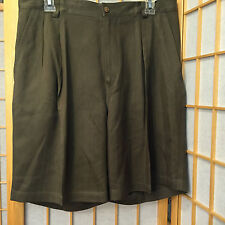 Tommy Bahamas Hawaiian Shorts Olive Casual Silk Mens Size 33