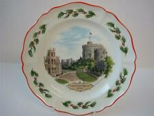 WEDGWOOD QUEEENS WARE CHRISTMAS PLATE 1980 WINDSOR CASTLE PLATE