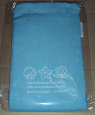 Brand New Japan Nintendo Club Light Blue Pouch fits DS DS Lite 3DS 3DS XL