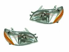 2000-2002 Toyota Echo Base Sedan Head Lights Lamps Driver & Passenger Side LH+RH